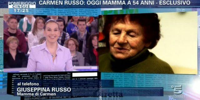 """La mamma di Carmen Russo: """"Anch'io sarò nonna per la prima volta a 82 anni"""""""