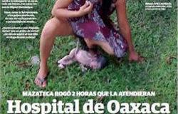 Messico, l'ospedale rifiuta il ricovero, lei partorisce da sola