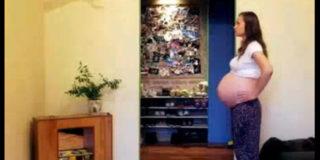 Nove mesi di gravidanza in due minuti!
