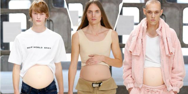 Se in passerella sfilano uomini in gravidanza: il futuro secondo la Fashion week