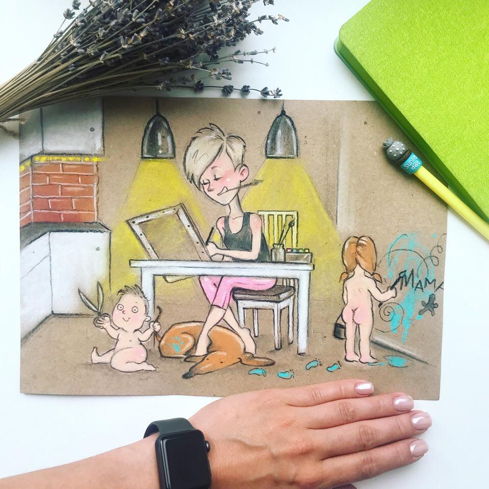 La vita di una mamma in Russia raccontata in 10 disegni
