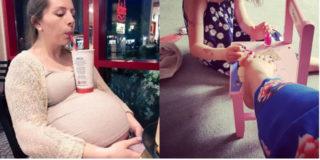 Se la pancia diventa un tavolo e le scarpe non entrano più: la gravidanza in 10 foto