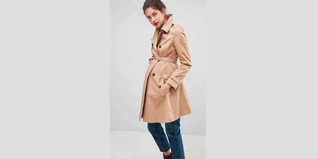 Trench premaman Asos Design Maternity