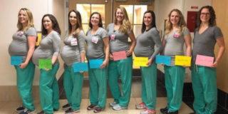 """Quando la gravidanza è """"contagiosa"""": 9 infermiere incinte contemporaneamente"""