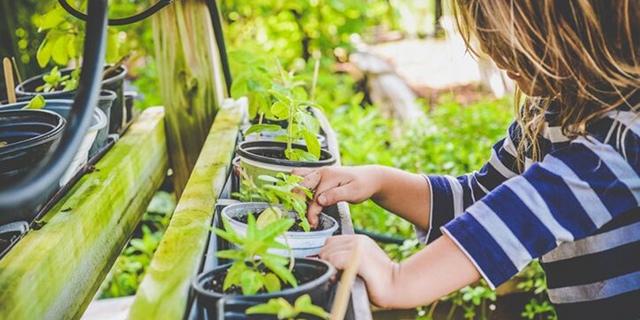 giardinaggio con i bambini in primavera