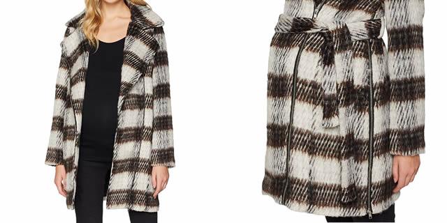 Cappotto in lana a quadri