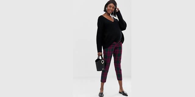 Pantalone tartan Asos Maternity