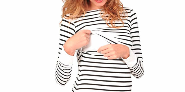 abbigliamento allattamento maglia righe