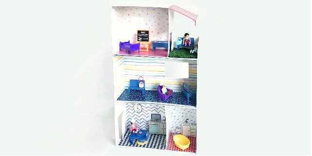 """Come costruire una """"casa delle bambole"""" in pochi minuti"""