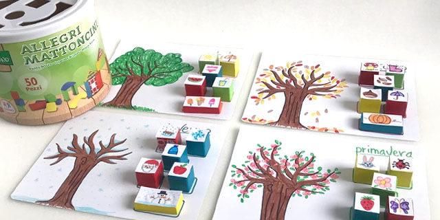 Le 4 stagioni spiegate ai bambini con i mattoncini di legno