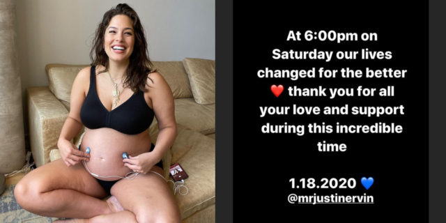 La modella Ashley Graham è diventata mamma