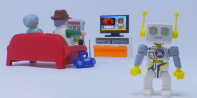 Il video di Playmobil che spiega il coronavirus ai bambini