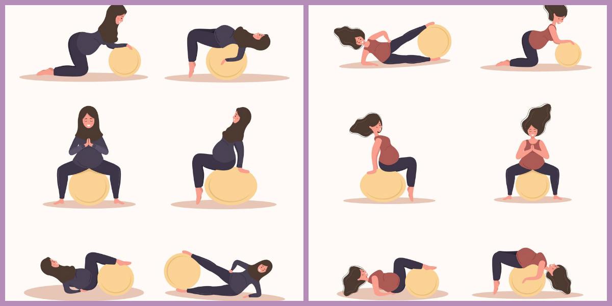 esercizi con fitball in gravidanza