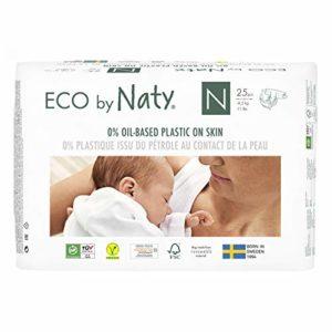 Eco by Naty, Pannolino eco premium a base vegetale, 0% di plastica sulla pelle