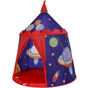 Tenda da Gioco Castello con Astronavi per Bambini