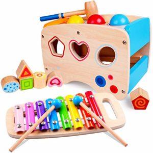 Rolimate Giocattolo di Martellamento in Legno per bambini 1-3 anni