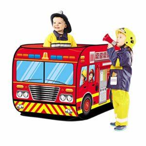 deAO Tende per Bambini Design Pop Up Auto dei Pompieri