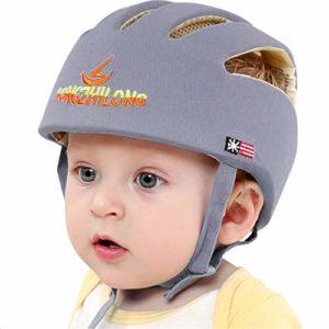IULONEE casco da bambino infantile, cotone, grigio