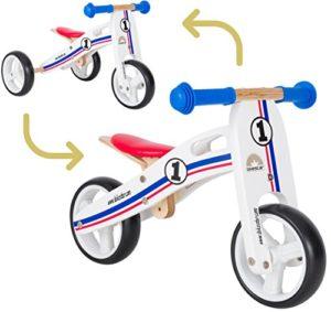 BIKESTAR Bicicletta Senza Pedali e Triciclo (2 in 1) in Legno