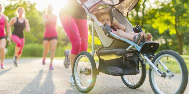 Passeggino da corsa (leggero e comodo), ideale per fare jogging con il bebè