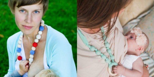 Collana allattamento, i benefici dell'accessorio (utile anche per la dentizione)
