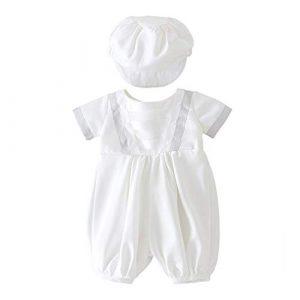 XYAN Neonato Battesimo Bianco Pagliaccetto Infantile