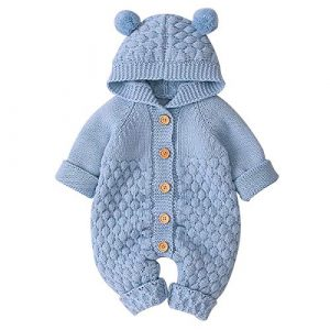 Borlai - Pagliaccetto per neonato, lavorato a maglia
