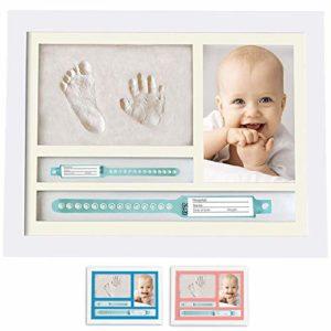 MUBY, Kit impronte neonati mani e piedi con Cornice