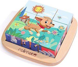 Rolimate Puzzle di Legno Montessoriano per Bambini