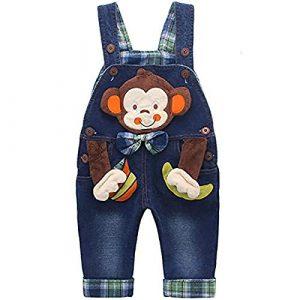 DEBAIJIA Salopette Jeans Blu Denim per neonato