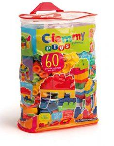 Clementoni Sacca Clemmy 60 Mattoncini, Multicolore