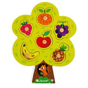 Janod - Puzzle albero goloso 6 pezzi in legno (18 mesi)