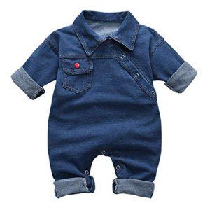 greatmtx - Salopette - Tutina per neonato, in jeans