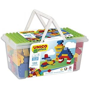 Costruzioni Unico Plus per Bambini (+3 anni) - 120 pezzi