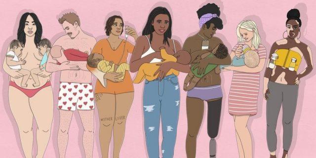 Allattamento al petto anziché al seno, storie di inclusività che abbattono i tabù