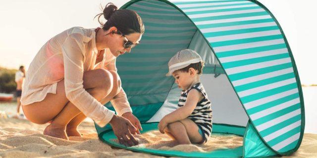 Divertimento e protezione con la tenda da spiaggia per bambini