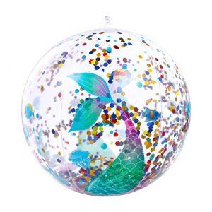 BESPORTBLE 2Pcs Gonfiabile Pallone da Spiaggia Paillettes