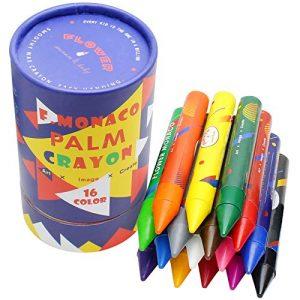 Pastelli a Cera Lavabili Multicolore, Confezione da 16