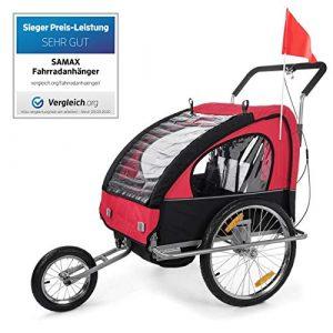 SAMAX Rimorchio Bicicletta Passeggino Bambini 2en1