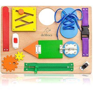 Tavola Montessori per Bambini - Pannello Sensoriale in Legno