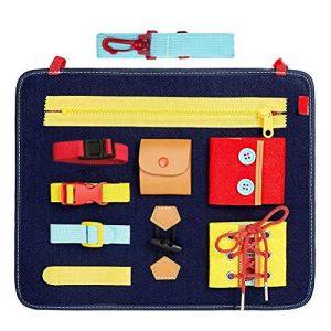 Pannello Sensoriale Montessori Basic Skills Activity Board