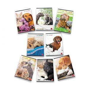 Pigna Maxi Quaderni A4 Dolci Cuccioli, Confezione da 10 Pezzi, Righe