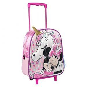 Minnie Zainetto Trolley scuola per bambine, Rosa