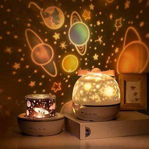SUVOM Lampada Proiettore per Bambini, 360°