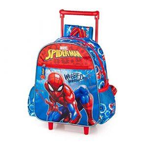 Zaino Asilo con Trolley Spiderman Marvel 2 Ruote
