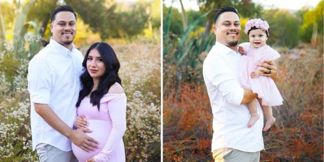 Papà ricrea un tenero shooting pre-nascita con la figlia dopo la morte della moglie